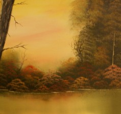 This is the landscape scene students will paint.