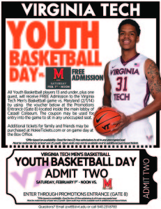 Virginia Tech Men's Basketball Youth Basketball Day